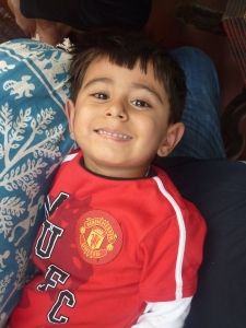 Aryan and his sweet smile