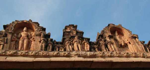 Carvings on temple roof