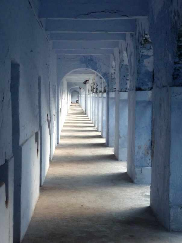 Cellular jail corridor