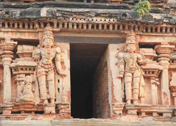 Close up of Temple carvings