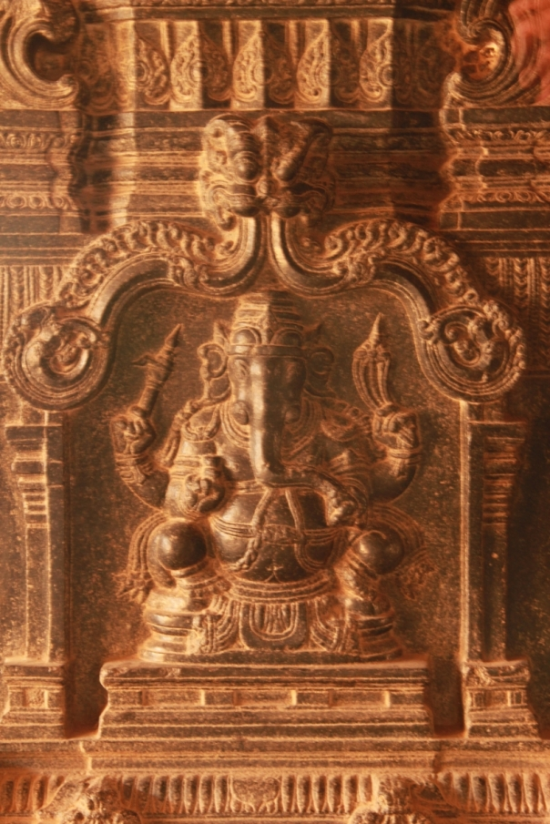 Ganesha carved on Rama temple pillars