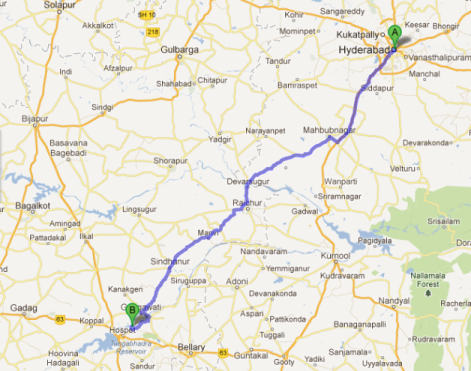 Hyderabad to Hampi