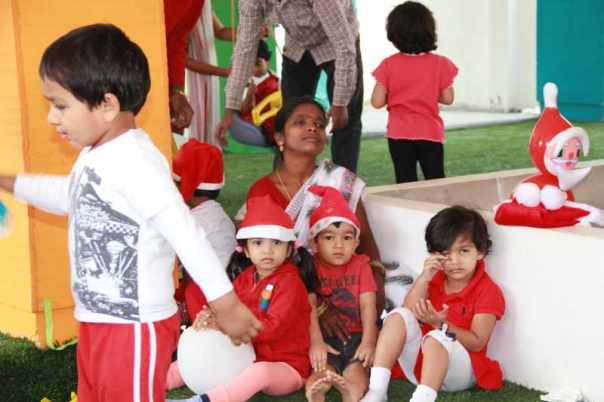 Kids in red and white