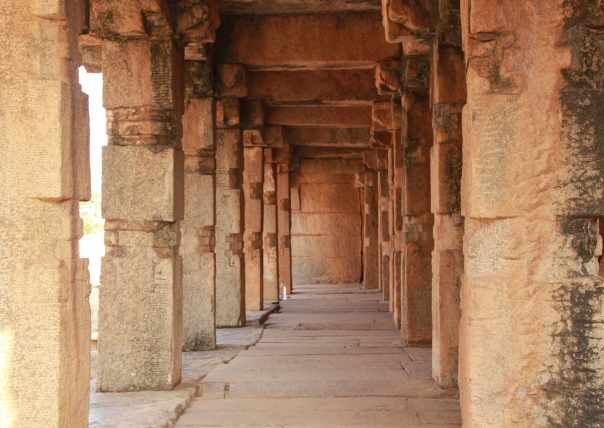 Leading corridors in Rama Temple
