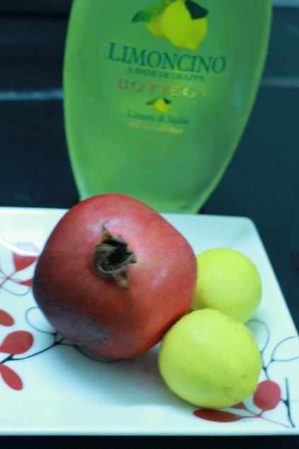 Pomegranate and lemons