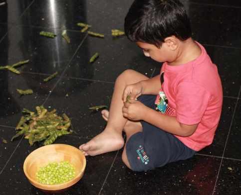 Shelling the peas