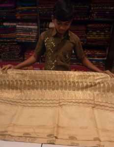 Showing saris