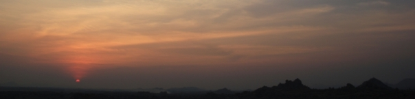 Sunset Hampi