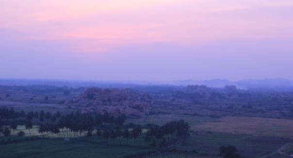 Sunset over Hampi