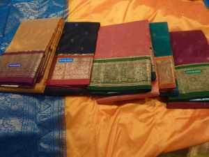 Traditional silk with wide border