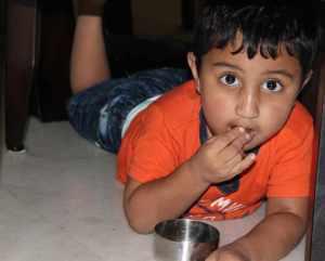 Varun snacking