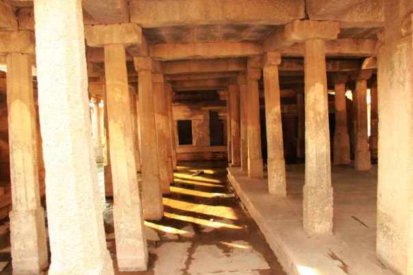 Water flooded prayer hall
