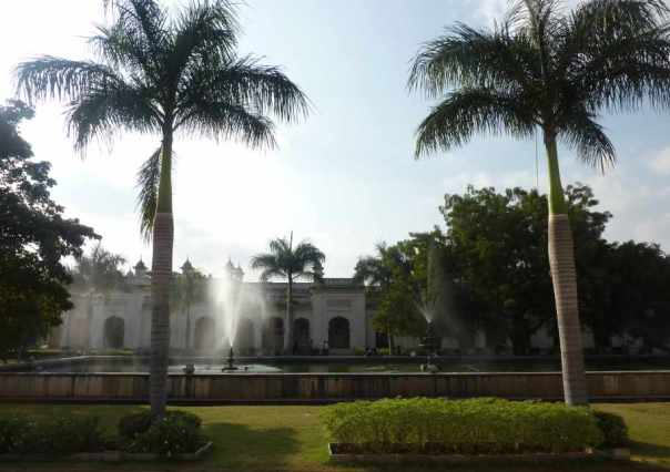 Central courtyards with fountains