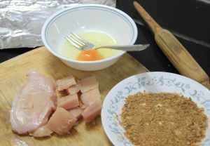 Chicken Nuggets  raw ingredients