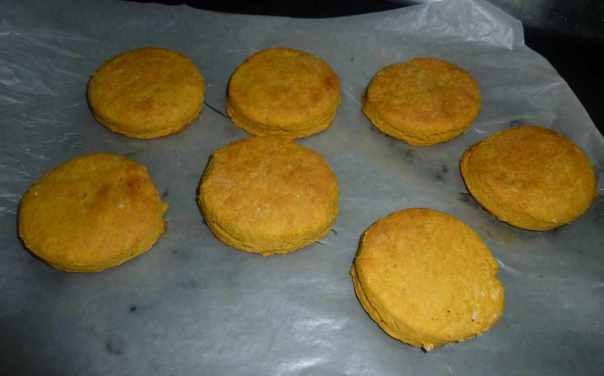 Fresh biscuits from oven
