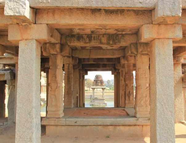 Krishna temple tank