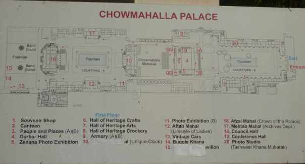 Map of Chowmahalla Palace