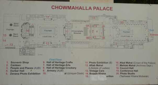 Map of Chowmahalla Palace