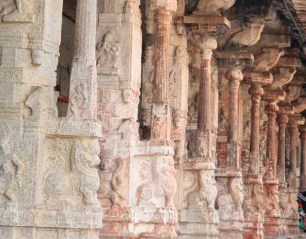 Pillared hallways on other side of the temple
