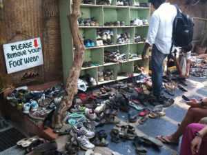Shoes outside Mango tree