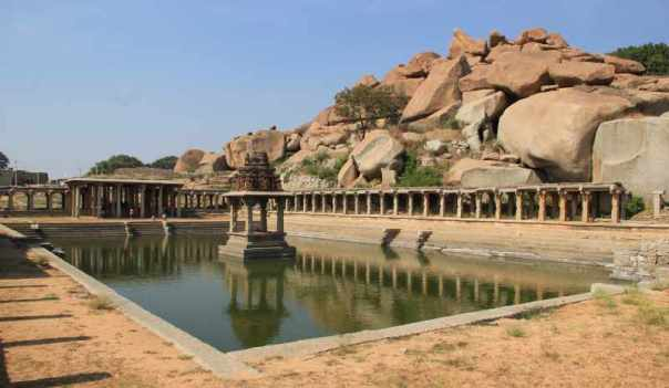 Stepped tank near Krishna Temple