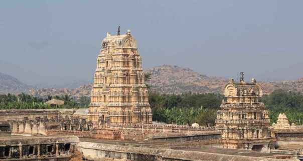 Temple complex from neighboring hills
