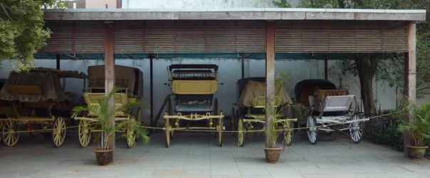 Vintage buggies at Chowmahalla Palace