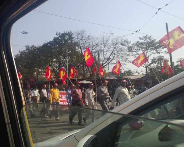A Political rally in Calcutta