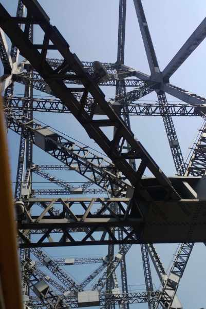 Howrah bridge looking up