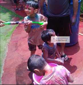 Kids enjoying themselves