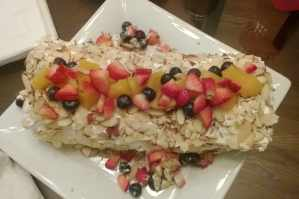 Peach roll with fresh fruits